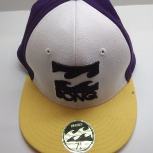 BillaBong New Yellow & Purple Hat